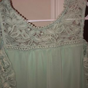 Mint green knee length dress